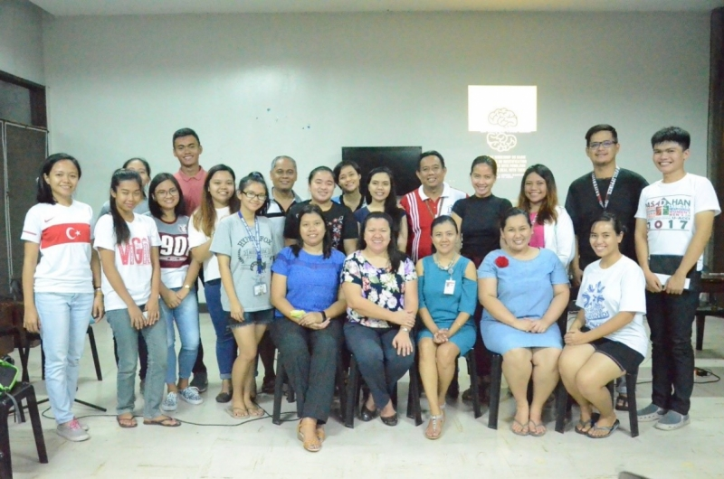 Guidance Services Specialists with personnel of the UPLB Housing Office and members and officers of the UPLB Alliance of Dormitory Associations