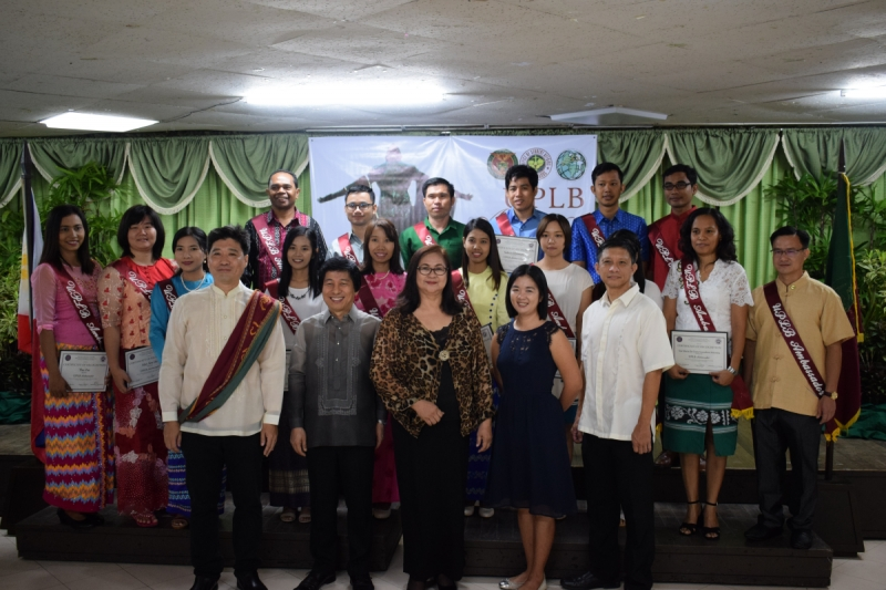 PROMOTING UPLB GLOBALLY: The 16 recognized UPLB Ambassadors for the 2018 Investiture & Commissioning Rites for UPLB Ambassadors. (Photo by Halyn Gamboa)